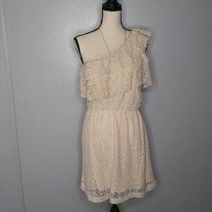 Gianni beanie crocheted one shoulder dress